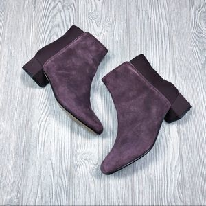 Clarks Collection | two tone purple booties size 5